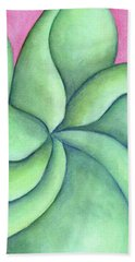 Frangipani Green Beach Towel