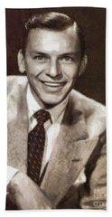 Frank Sinatra By Mary Bassett Beach Towel