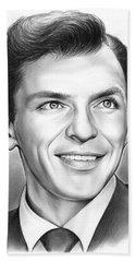 Frank Sinatra Beach Towel by Greg Joens