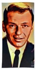 Frank Sinatra, Hollywood Legend. Digital Art By Mb Beach Towel