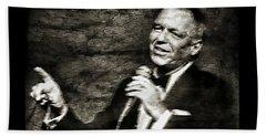Frank Sinatra -  Beach Towel by Ian Gledhill