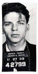 Frank Sinatra Mug Shot Vertical Beach Towel