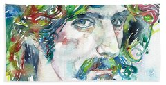 Frank Zappa Portrait Beach Towel