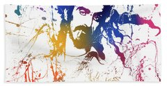Frank Zappa Splatter Beach Towel
