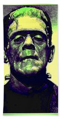 Frankenstein In Color Beach Sheet by Joan  Minchak