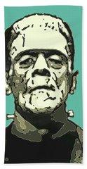 Frankensteins Monster Karloff Comic Beach Towel
