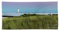 Frankfort North Breakwater Lighthouse From Elberta Beach Towel