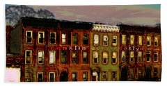 Beach Towel featuring the photograph Franklin Ave. Bk by Iowan Stone-Flowers