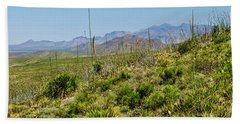 Franklin Mountains State Park Facing North Beach Towel