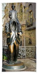 Franz Kafka Statue Prague Beach Towel