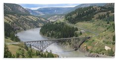 Fraser River Bridge Near Williams Lake Beach Sheet