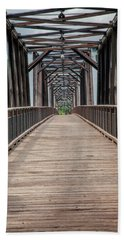 Beach Towel featuring the photograph Fraser River Footbridge by Jacqui Boonstra