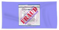 Beach Sheet featuring the digital art Fraud Email Exposed by Barbara Tristan