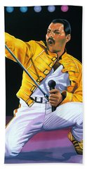 Freddie Mercury Live Beach Towel by Paul Meijering