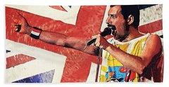 Freddie Mercury Beach Sheet by Taylan Apukovska