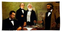Frederick Douglass Appealing To President Lincoln Beach Towel