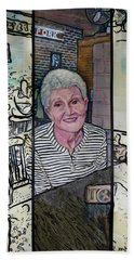 Frederick Life Starring Ruth Sentelle Beach Towel by Ron Richard Baviello