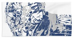 Frederik Andersen Toronto Maple Leafs Pixel Art 3 Beach Towel