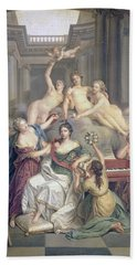 Frederika Sophia Wilhelmina Of Prussia Wife Of Prince Willem V In The Temple Of The Arts Beach Towel