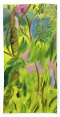 Beach Towel featuring the painting Free Feeling by Meryl Goudey