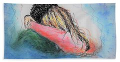 Beach Towel featuring the mixed media Free Hugs by Denise Fulmer