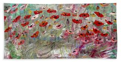 Free Wild Poppies Beach Sheet