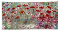 Free Wild Poppies Beach Sheet