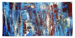 Freedom Of Expression Beach Towel by Valerie Travers