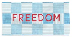 Freedom Patchwork Beach Towel