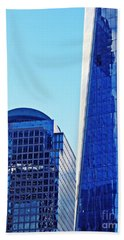 Beach Sheet featuring the photograph Freedom Tower And 2 World Financial Center by Sarah Loft