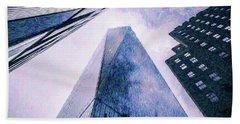 Freedom Tower Crayon Sketch Beach Towel by Wade Brooks