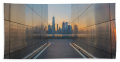 Freedom Tower From Empty Sky Memorial  Beach Towel