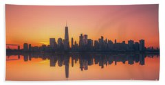 Freedom Tower Reflections  Beach Towel