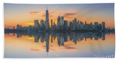 Freedom Tower Sunrise Reflections Beach Towel