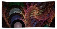 Beach Towel featuring the digital art Freefall - Fractal Art by NirvanaBlues