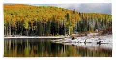 Freeman Lake In Northwest Colorado In The Fall Beach Sheet