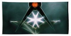 Freemason Symbol By Raphael Terra Beach Towel