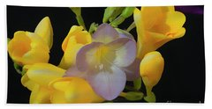 Freesias Softened 9 Beach Sheet