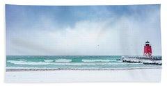 Freezing Storm Beach Towel
