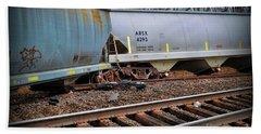 Freight Train Wreckage  Beach Towel