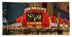 Fremont Casino Entrance Beach Towel
