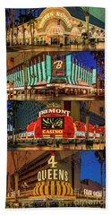 Fremont Street 4 Casinos Beach Towel