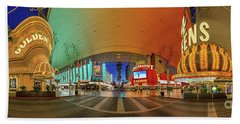 Fremont Street Experience Panorama 3 To 1 Aspect Ratio Beach Towel