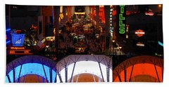 Fremont Street Experience Poster Work A Beach Towel