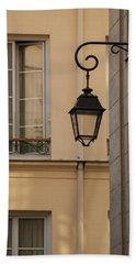 French Alley Lantern Beach Towel by Jani Freimann
