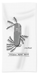 French Army Knife Beach Towel