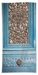 French Blue - Paris Door Beach Towel by Melanie Alexandra Price