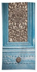 French Blue - Paris Door Beach Sheet by Melanie Alexandra Price