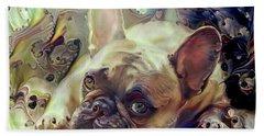 French Bulldog Puppy Beach Towel