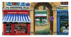 French Butcher Shop Beach Towel